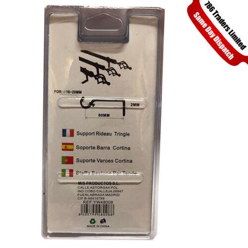 Nuevo Polo caña de Cortina Soporte de pared soporte de Soporte para varilla de cortina de metal pesado deber Reino Unido