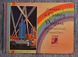 Chicago World Fair Century of Progress International Expo Souvenir Pamphlet 1933