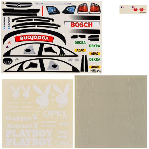 Dekorbogen 1:10 Opel Vectra GTS PLAYBOY DTM 2004 Aiello #4 Carson 69089 800065