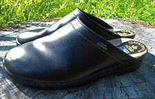 Torpatoffeln Black Leather Clogs Men's size 12 EU 45