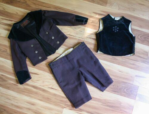 Antique Victorian Boys Velvet 3pc Suit by Simpson