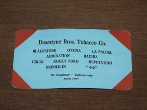 VINTAGE-DEARSTYNE-BROS-TOBACCO-CO-SCHENECTADY-PAPER-ADVERTISEMENT