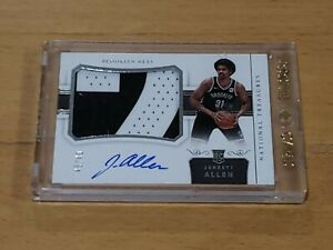 2017-NATIONAL-TREASURES-Jarrett-Allen-Auto-RC-TRUE-RPA-034-2-034-Jersey-Patch