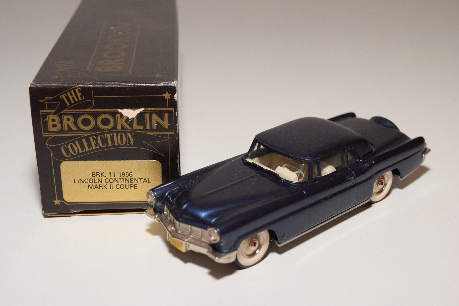 - brooklin brk lincoln continental mark ii 11 1956 coupé metallic - blau mintboxed