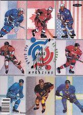 1996 World Cup of Hockey Program Signed by USA John LeClair W/COA A