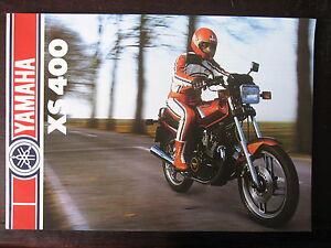 Ambitieux Catalogue Prospectus 1982 Yamaha Xs 400 3 Volets Acheter Un En Obtenir Un Gratuitement