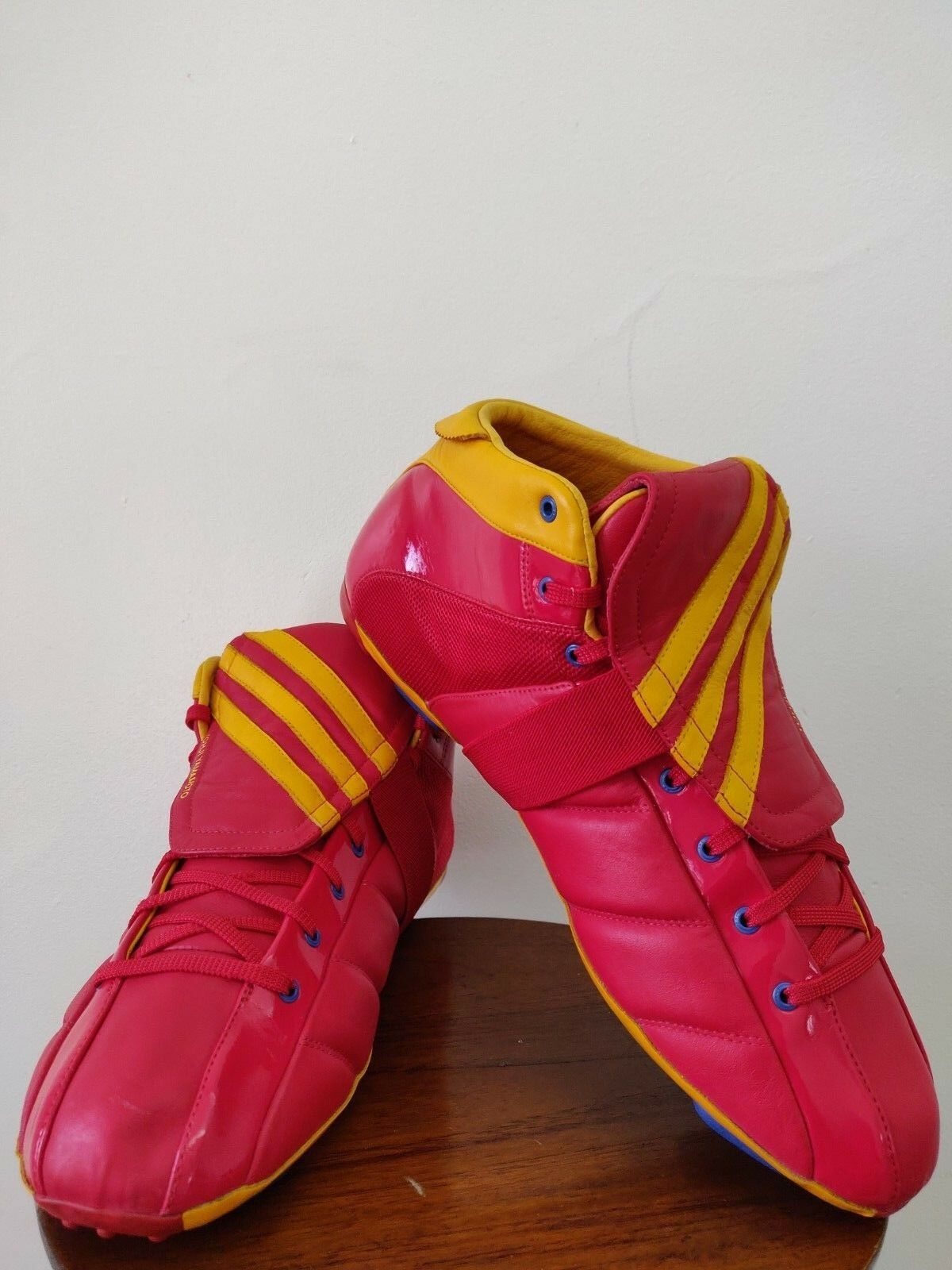 Men's Adidas Y-3 Yohji Yamamoto field mid excl soccer cleats red-yellow size 12