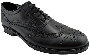 185-RED-TAPE-Noir-Cuir-Bout-D-039-Aile-Bradshaw-Robe-lacets-derbies-homme-chaussures