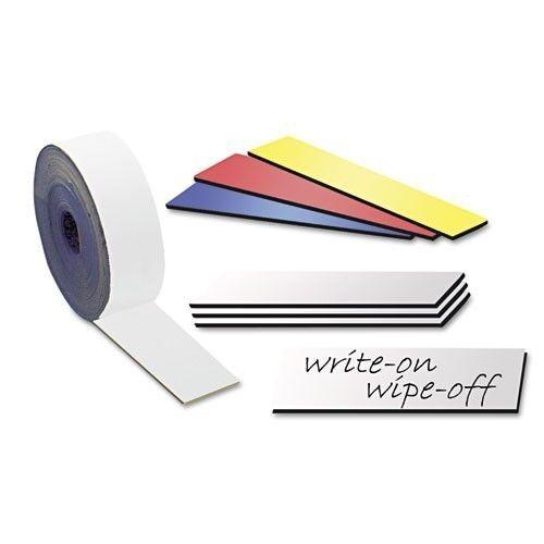 Etiketten 200 Magnetschilder beschreibbar 4 x 8cm in weiß Magnetstreifen