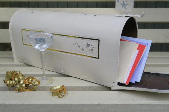 Unique Cuivre USA Post Box peint crème mariage Post, oren Anniversary, souhaits