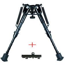 "Rifle Bipod 6"" to 9"" Harris Style Adjustable Spring Legs w/KeyMod Rail Adapter *"