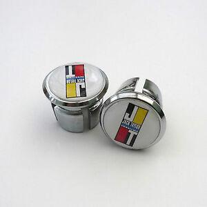 Caps Vintage Style /'Bianchi/' Chrome Racing Bar Plugs Repro