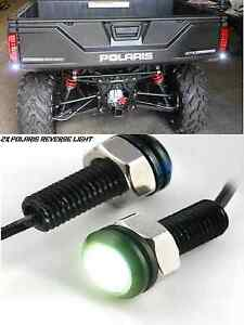 2x Polaris Ranger Led Back Up Reverse Lights Atv Rzr Utv Spot Flood