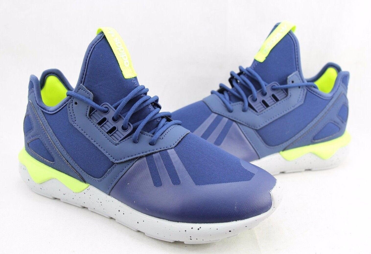 Adidas Mens Tubular Runner shoes bluee  Light Grey AQ8389 Size 8-10