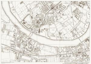 Fulham Putney Wandsworth Map London 1888 D29 Ebay