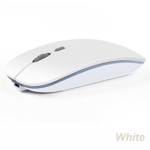 Hot 2.4GHz Rechargeable Wireless Mouse Silent Button Ultra Thin USB Optical Mice