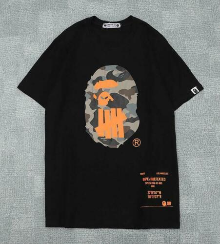 Men/'s Undefeated Camo Bape Giant Logo Sports Hip-hop A Bathing Ape T-shirt Tee