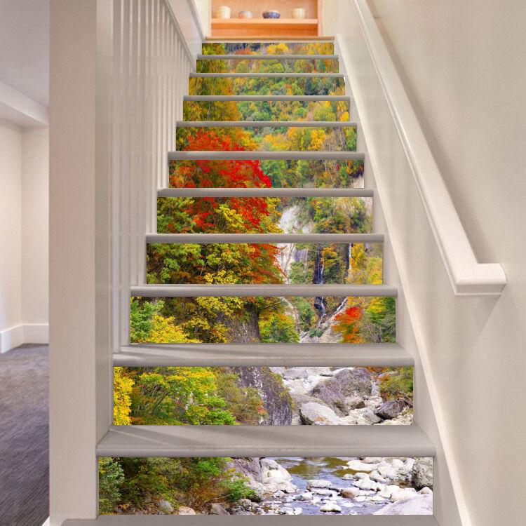 3D Fallen Gebirge 6 Stair Risers Dekoration Fototapete Vinyl Aufkleber Tapete DE