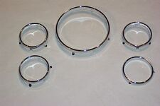 1956 Ford or 1957 T-Bird Chrome Instrument Rings NEW(Set of 5) Crown Victoria 56