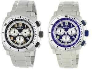 Invicta-Swiss-Chronograph-45mm-Dial-Stainless-Steel-Luminous-Date-Watch-4-Color