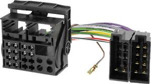 Vw-Quadlock-Car-Stereo-Wiring-Harness-Headunit-connector-Loom-Lead-2002-On