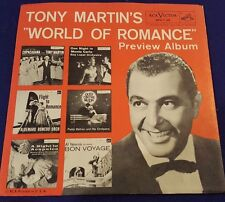 TONY MARTINS World of Romance Preview 45 Record 6Song SAMPLE RCA Victor SPA-7-39