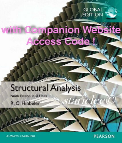1 of 1 - NEW 3 Days AUS Structural Analysis 9E Russell C. Hibbeler (Mixed Media Product)