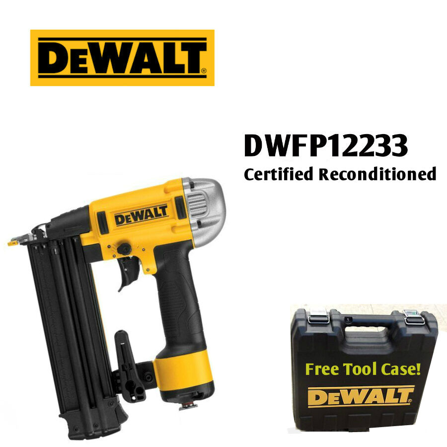DEWALT DWFP12233 R 18-Gauge 2-1 8 Inch Brad Nailer w  FACTORY WARRANTY INCLUDED