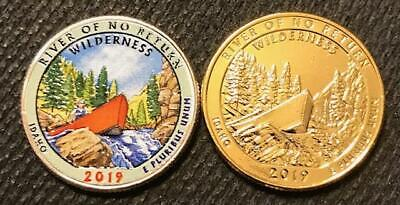 2 COIN QUARTER SET 2019 D COLOR /& 24K GOLD LAYERED WAR IN THE PACIFIC GUAM