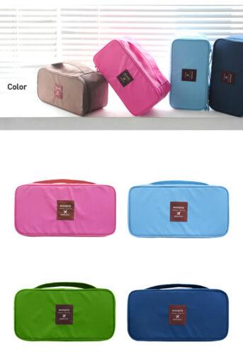 Travel Trip Storage Bag Underwear Bra Pouch Carry Case Housekeep Makeup Pocket