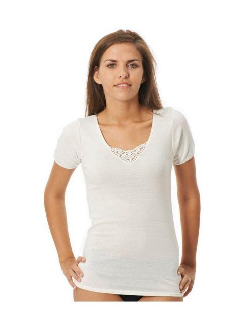 T-Shirt Judith ARMOR LUX Laine et Coton Couleur Neige Taille 4