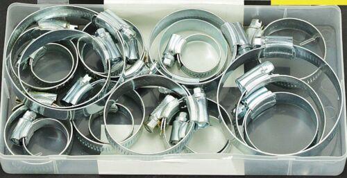 21PC colliers de serrage Set Dans Boîte de rangement Assorted inoxydable voler Pipe Clip