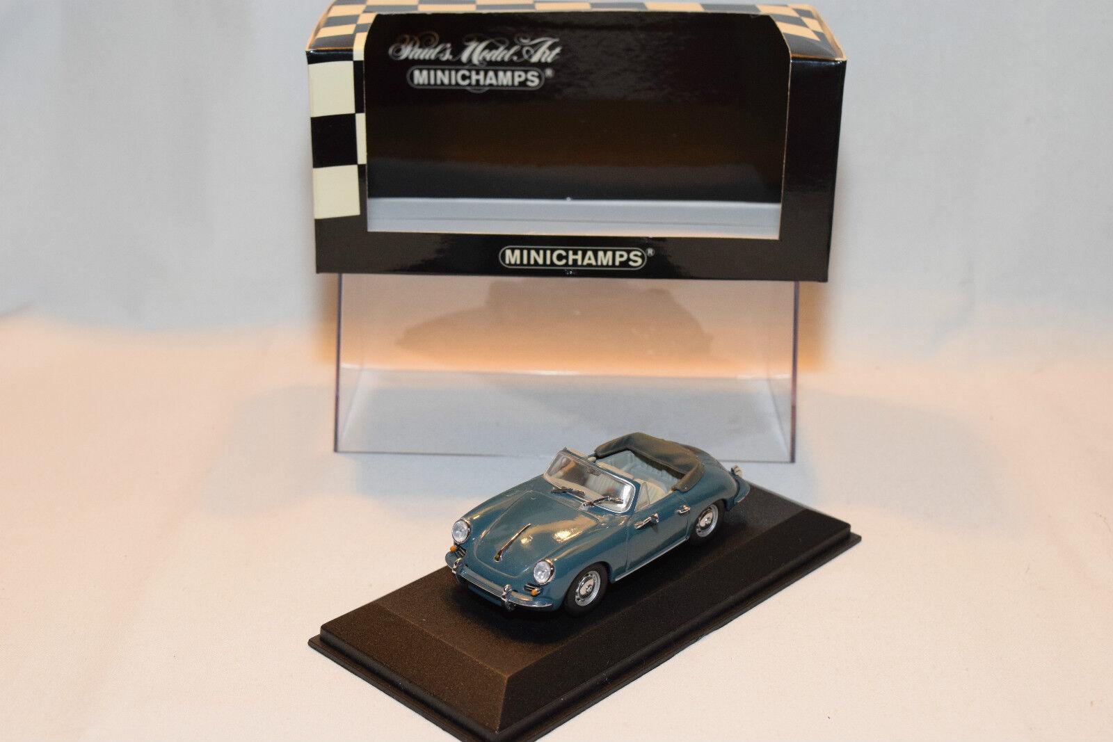 Nej.MINISTAMPS PORSCHE 356 C CABRIOLET 1965 blå MINT lådaED