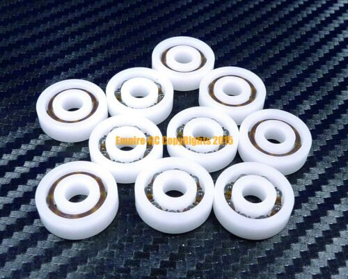 604 QTY 2 POM Nylon Plastic PRECISION Ball Bearing Bearings 4*12*4 4x12x4 mm
