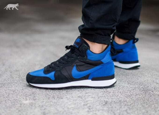 Nike Internationalist Mid size 13. Black Royal bluee 682844-404. vortex air max
