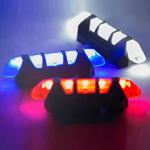 Super Cycling 5 LED USB Rechargeable Bike Bicycle Tail Warning Light waterproof
