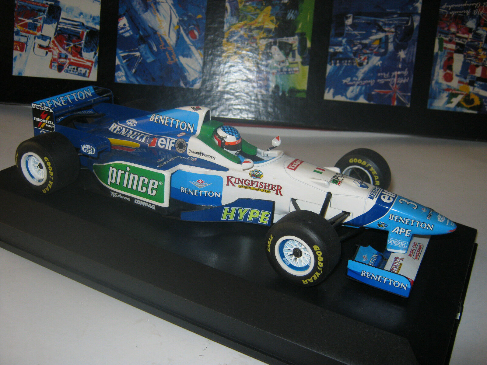 1 18 Benetton Renault b196 J. ALESI 1996 Minichamps  in BRANDnouveau Showcase Top  80% de réduction
