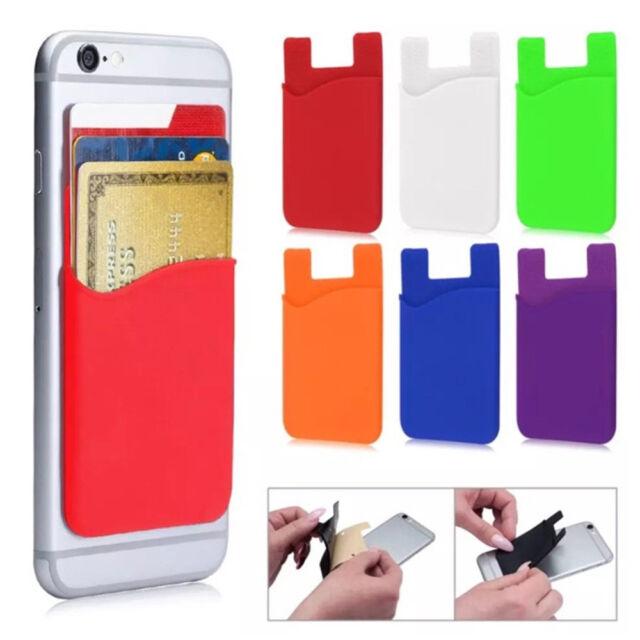 1X Mobile Smart Phone Lycra Multi Wallet ID Card Holder 3M Adhesive Back Pocket