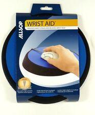 26226 ALLSOP Wrist Aid Circular Mouse Pad (Blue), Adjustable Angle
