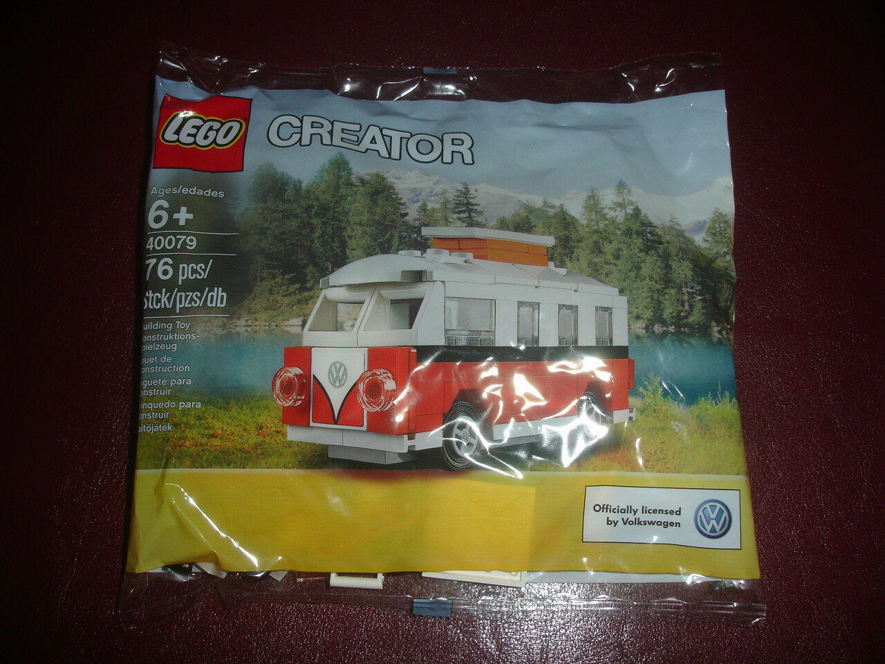 NEW LEGO CREATOR 40079 VW VOLKSWAGEN CAR CAMPER CAMPER CAMPER SET KIT SEALED IN BAG RARE 454801