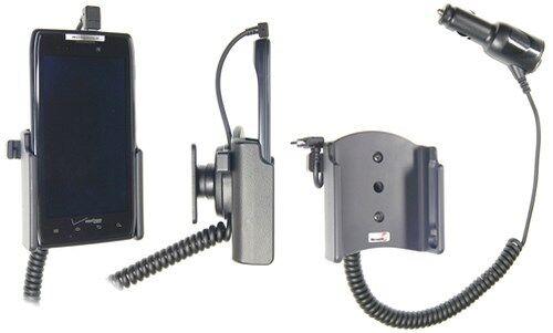 Vehículos BRODIT soporte 512315 con zigarettenanzünderanschluß para Motorola RAZR xt910