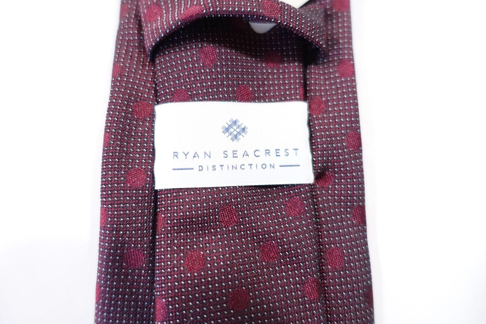 Ryan Seacrest Distinction Mens Evans Silk Polka Dot Neck Tie