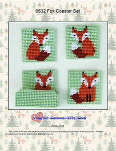 Birdhouse Coaster Set-Plastic Canvas Pattern or Kit
