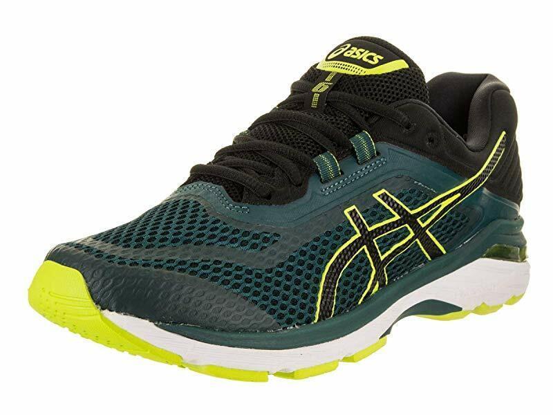 ASICS Men's GT-2000 6 Running shoes, Everglade Black, 7.5 D US