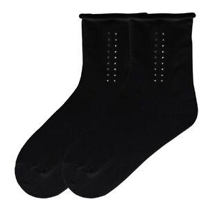 Kbwf14h074-01 Starker Widerstand Gegen Hitze Und Starkes Tragen K Bell Socken Damen Strass Smoking Streifen Entspannt Crew