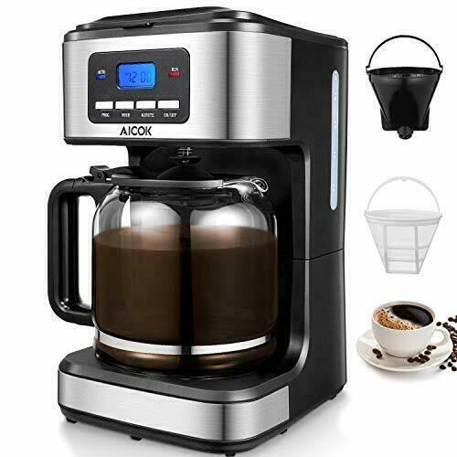 Aicok Filter Machine 12 Cup Programmable Coffee Maker RRP £39.99 (p1/86)