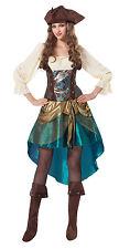 PIRATE PRINCESS DELUXE WOMEN DRESS PARTY FANCY DRESS COSTUME