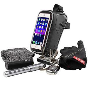 Borsa-Borsetta-anteriore-Tubo-Porta-Cellulare-Bici-Ciclismo-Bag-Touchscreen-TPU