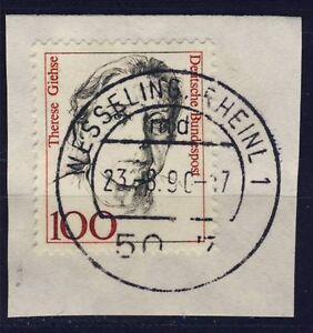 BUND Nr. 1390 Therese Giehse Briefstück Bedarfs-Vollstempel Wesseling Rheinl 1 - Esslingen, Deutschland - BUND Nr. 1390 Therese Giehse Briefstück Bedarfs-Vollstempel Wesseling Rheinl 1 - Esslingen, Deutschland