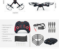 JJRC H11WH 2.4GHz 4CH 6 Axis Gyro 2MP CAM 3D Flips WiFi FPV RC Quadcopter RTF
